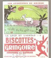 Buvard GRINGOIRE Biscottes  Les Aventures De Gringo N°2 Le Loup Et L'Agneau Illustré Par COQ - Zwieback