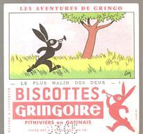 Buvard GRINGOIRE Biscottes  Les Aventures De Gringo N°1 Le Plus Malin Des Deux Illustré Par COQ - Zwieback