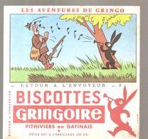 Buvard GRINGOIRE Biscottes  Les Aventures De Gringo N°2 Retour à L'envoyeur Illustré Par COQ - Zwieback