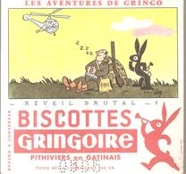 Buvard GRINGOIRE Biscottes  Les Aventures De Gringo N°1 Revei Brutal Illustré Par COQ - Zwieback