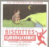 Buvard GRINGOIRE Biscottes  Les Aventures De Gringo N°2 Echec Au Chasseur Illustré Par COQ - Zwieback
