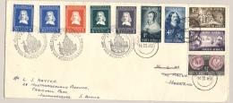 Nederlands - 1952 - Rijke Frankering Op Van Riebeeck Cover Heen En Weer Den Haag - Johannesburg / South Africa - 1949-1980 (Juliana)