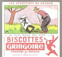 Buvard GRINGOIRE Biscottes  Les Aventures De Gringo N°3 Le Plus Malin Des Deux Illustré Par COQ - Zwieback