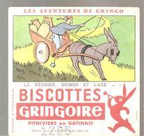 Buvard GRINGOIRE Biscottes  Les Aventures De Gringo N°1 Le Meunier, Gringo Et L'âne Illustré Par COQ - Zwieback