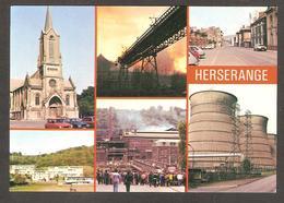 """54440 HERSERANGE """" L'Acier """" L'église Notre-Dame, Rue De Paris, Le CES Longwy Nord-Est - Autres Communes"""