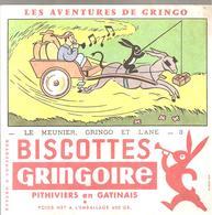 Buvard GRINGOIRE Biscottes  Les Aventures De Gringo N°3 Le Meunier, Gringo Et L'âne Illustré Par COQ - Zwieback