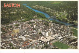 Postcard Easton On The Delaware River Northampton County Pennsylvania Aerial View C 1985 My Ref  B12541 - United States
