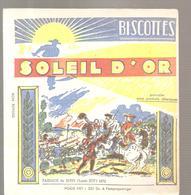 Buvard Biscottes Soleil D'Or Passage Du Rhin Louis XIV (1682) - Zwieback