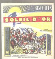 Buvard Biscottes Soleil D'Or BONAPARTE à RIVOLI (1797) - Zwieback