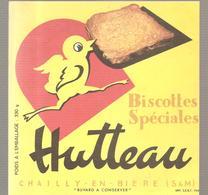 Buvard Biscottes Spéciales HUTTEAU CHAILLY EN BIERE - Zwieback