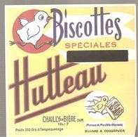 Buvard Biscottes Spéciales SUPRA-LEGERES HUTTEAU CHAILLY EN BIERE - Zwieback