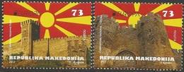 MK 2017-09 EUROPA CEPT, MACEDONIA MAKEDONIJA, 1 X 2v, MNH - Macédoine
