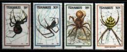TRANSKEI, 1987,  MNH Stamp(s), Spiders,  Nr(s) 206-209 - Transkei