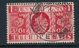 GB, 1935 Silver Jubilee 1d Wmk INVERTED (N) - 1902-1951 (Koningen)