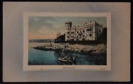 Croatia - Abbazia, Opatija, Relief Postcard - Militar Zensur, Year Cca 1916 - Croatia