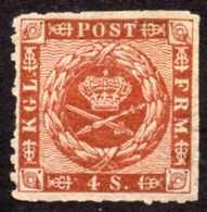 Denmark Yv# 10 Mint No Gum - 1851-63 (Frederik VII)