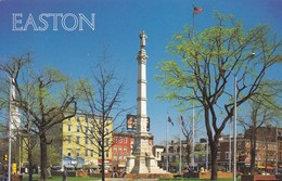 Postcard Easton Civil War Monument The Easton Circle Northampton County Pa C 1985 My Ref  B12542 - United States