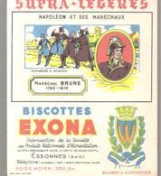 Buvard EXONA Biscottes Napoléon Et Ses Maréchaux Maréchal BRUNE 1763-1815 Assassiné à Avignon - Zwieback