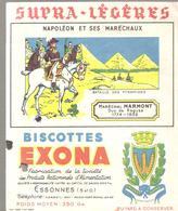 Buvard EXONA Biscottes Napoléon Et Ses Maréchaux Maréchal MARMON 1774-1852 Duc De Raguse - Biscottes