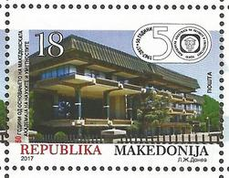 MK 2017-21 ACADEMY OF SCIENCE, MACEDONIA MAKEDONIJA, 1 X 1v, MNH - Wissenschaften
