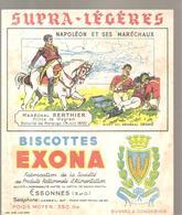 Buvard EXONA Biscottes Napoléon Et Ses Maréchaux Maréchal BERTHIER Prince De Wagram - Biscottes