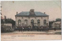 LIANCOURT (60) ECOLE COMMUNALE Des GARCONS. CARTE COLORISEE. - Liancourt