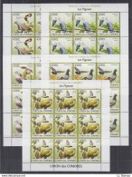 A28. 9x Comoros - MNH - Animals - Birds - 2009 - Full Sheet - Oiseaux
