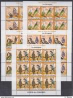 A28. 9x Comoros - MNH - Animals - BIrds - 2009 - Full Sheet - Vögel