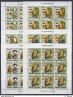 A30. 9x Guine-Bissau - MNH - Animals - Birds - Scouting - 2005 - Full Sheet - Oiseaux