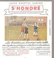 Buvard Biscottes ST HONORE Dessin N°12 Un Match De Basket - Zwieback