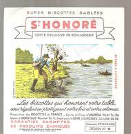 Buvard Biscottes ST HONORE Dessin N°10 La Pêche à La Ligne - Zwieback