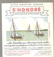 Buvard Biscottes ST HONORE Dessin N°18 Régate - Zwieback