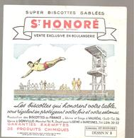 Buvard Biscottes ST HONORE Dessin N°5 Natation Plongeon - Zwieback