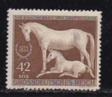 DEUTSCHES REICH, 1944, Hinged Unused Stamp(s), The Brown Belt, MI 899 #16203 , - Germany