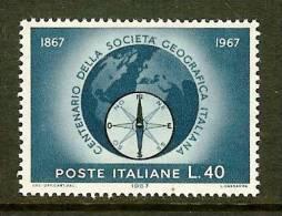 ITALIA 1967 MNH Stamp(s) Geographic Society 1220 - 6. 1946-.. Republic