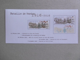 2016  BF 141 * *  No YVT 5063 Et 5063A   CENTENAIRE DE LA BATAILLE DE VERDUN - Neufs