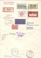 DDR 1329/30 Auf Mit Nachporto Belegtem Retour-R-Brief Nach Österreich - DDR