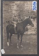 8914 CARTE PHOTO   CHAMBLAY MILITAIRE A CHEVAL  PHOTO. J. LANCON - Francia