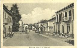 "1101 "" GALLO D'ALBA - VIA UMBERTO I (CN) "" CARTOLINA POSTALE ORIGINALE SPEDITA - Italia"