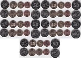 Zimbabwe - 5 Pcs X Set 5 Coins 1 + 5 + 10 + 25 + 50 Cents Bond Coin 2014 UNC - Lemberg-Zp - Zimbabwe