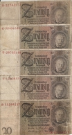 ALLEMAGNE 20 REICHMARK 1929 VG+ P 181 ( 5 Billets ) - [ 3] 1918-1933: Weimarrepubliek