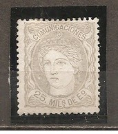 España/Spain-(MH/(*)) - Edifil  106 - Yvert  106 (sin Goma) - 1868-70 Gobierno Provisional