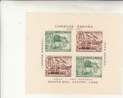 Spagna, Guerra Civile. 5 Cent. Dos Hojas Bloques Epila 1936 Pro Rodanas - 1931-50 Storia Postale