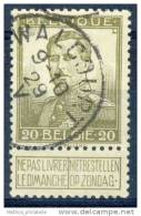 D- [DEL-251-3] O/used-N° 112 Obl Centrale Walcourt TB - 1912 Pellens