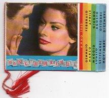 CALENDARIETTO DA BARBIERE CINE RIBALTA 1963 / CINEMA/SOPHIA LOREN / BRIGITTE BARDOT / GINA LOLLOBRIGIDA / PAUL NEWMAN / - Formato Piccolo : 1961-70