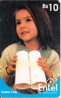 BOLIVIA(chip) - Young Girl(reverse 1), Chip GEM3.1, 08/01, Used - Bolivia
