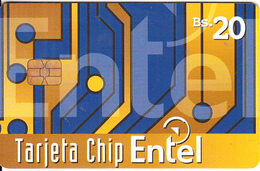 BOLIVIA - Abstract Design 5, First Chip Issue Bs.20, Tirage 75000, Used - Bolivia