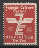 Spendenmarke 1920 Zeppelin-Eckenerspende Des Deutschen Volkes Um 1925 (*) - Luftpost