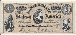 USA 100 DOLLARS 1864  Reproduction - United States Of America
