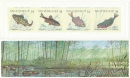 D- [153049] **/Mnh-[B20], Carnet Complet (replié Pour Envoi), Nature, Poissons Divers, SNC - Poissons